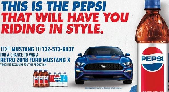 Pepsi Mustang Sweepstakes 2018 - Win A 2018 Retro Ford Mustang X
