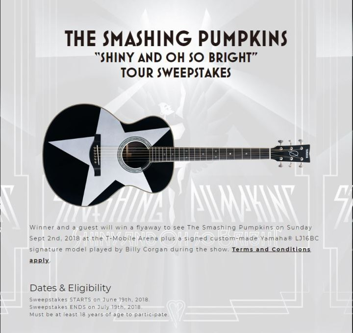 Smashing Pumpkins Sweepstakes