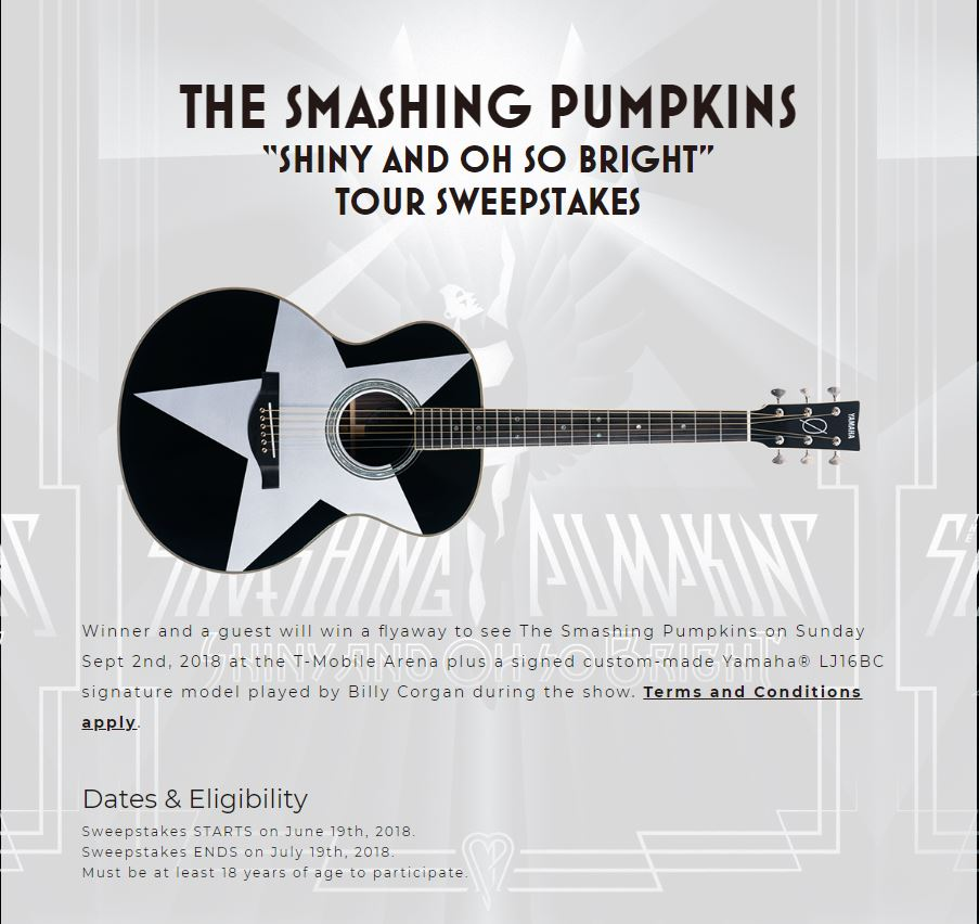 Smashing Pumpkins Sweepstakes