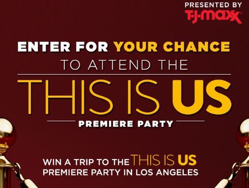 NBC T.J. Maxx and This Is Us Sweepstakes 2018