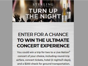 Sterling Turn up the Night Sweepstakes