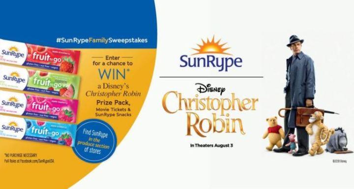 SunRype Disney Christopher Robin Sweepstakes