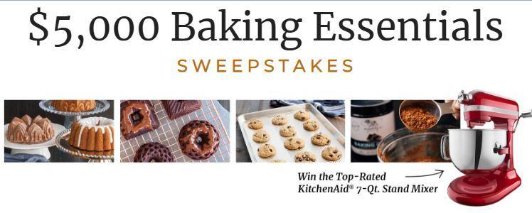 America's Test Kitchen Baking Essentials Sweepstakes 2018