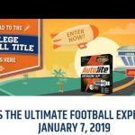 Autolite Ultimate Football Experience Sweepstakes – Win A Trip to Santa Clara, California