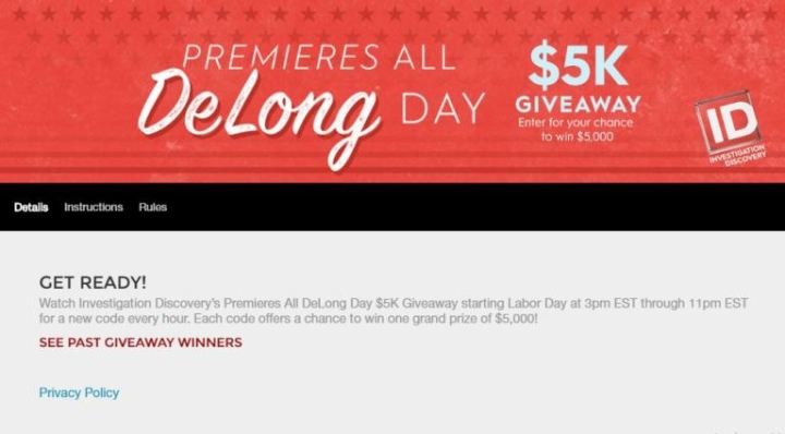 Investigation Discovery Labor Day Giveaway – Win $5000 Cash