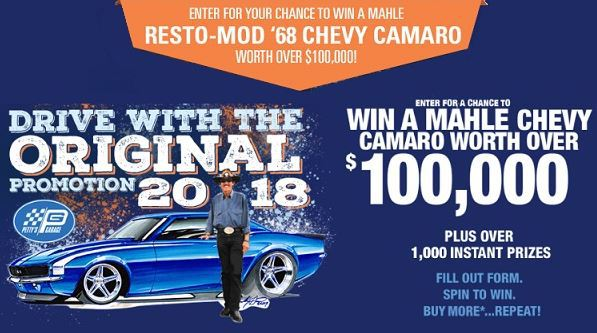 Mahle Drive With the Original Sweepstakes