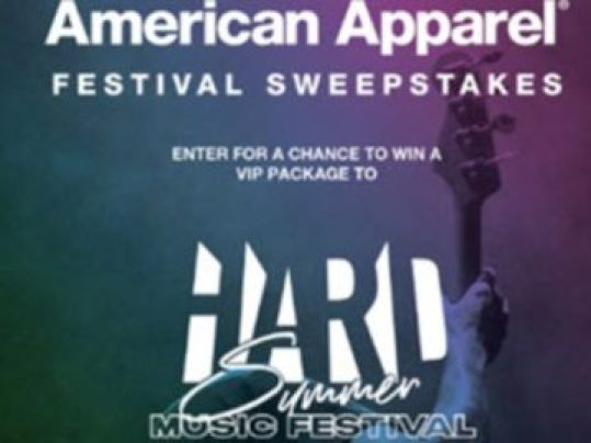 American Apparel Festival Sweepstakes - Win A Trip