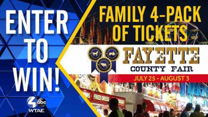 Fayette County Fair III Sweepstakes – Win Four pack of Tickets