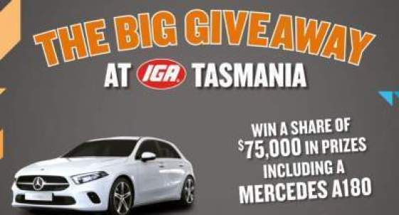 IGA Tasmania Big Giveaway Contest 2019 - Win Car