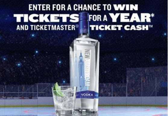 Ticketmaster New Amsterdam Vodka Tickets For A Year Sweepstakes