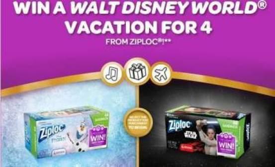 Win With Ziploc Sweepstakes – Win Walt Disney World Vacation