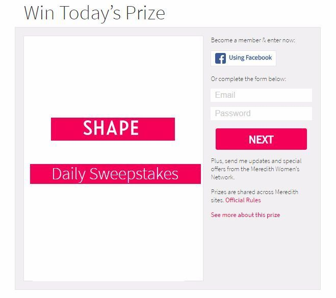 Shape Daily Sweepstakes – Participate and Win Free Prizes