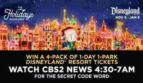 CBS2 Disneyland Resort Contest