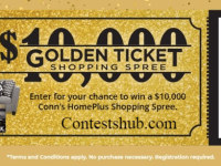 Conn HomePlus $10000 Golden Ticket Sweepstakes