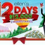Ellen Shop 12 Days $12K Sweepstakes 2019 (ellenshop.com)