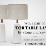 Win a Pair of Tor Table Lamps by Stone and Sawyer Contest (community.deringhall.com)
