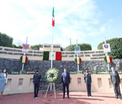 Encabeza Gobernador ceremonia del 173 Aniversario de la Gesta de los Niños Héroes de Chapultepec