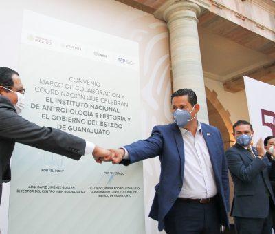 Ratifican convenio de colaboración de salvaguarda del patrimonio guanajuatense