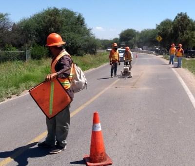 Realizarán trabajos de conservación periódica en la carretera Purísima – Jalpa de Cánovas