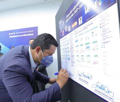 Presenta Gobernador de Guanajuato el Calendario Escolar para el Ciclo 2021-2022