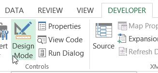 Design Mode command