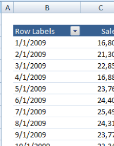 Pivot table order dates also excel filters top rh contextures
