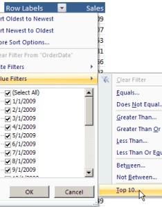Value filter top also excel pivot table filters rh contextures
