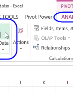 Change data source command on excel ribbon the pivottable also pivot table rh contextures