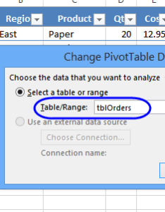 Use dynamic source for pivot table also excel data rh contextures