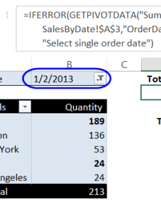 Select single order date also excel pivot table report filters macros rh contextures