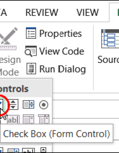 Insert check box also how to make interactive excel charts rh contextures
