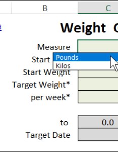 also excel weight loss tracker rh contextures