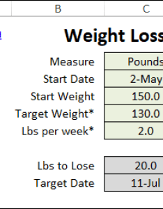 Excel weight loss goals also tracker rh contextures