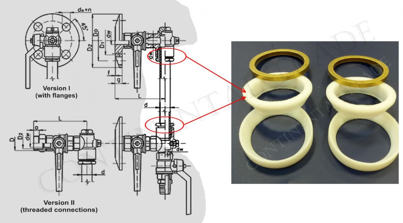 hight resolution of sealing set for glass tube level gauge type 707