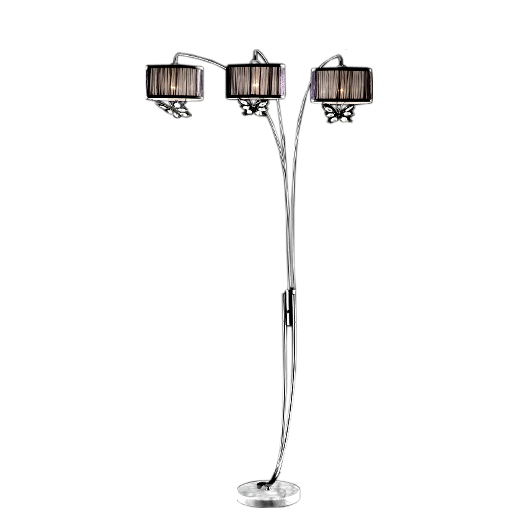 85 Tall Metal Floor 3 Arch Lamp Hydra With Finish And