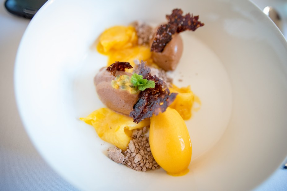Munich Restaurants: Pageou - Mango and chocolate sorbets