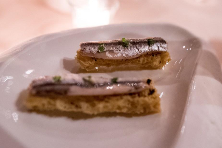 La Pergola, Rome - The anchovy amuse-bouche