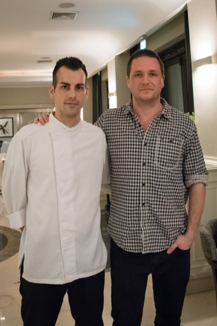 Assaje Restaurant in Rome - Chef Claudio Mengoni and Cedric Lizotte