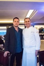 Imago Restaurant in Hassler Hotel Rome - Cedric Lizotte and chef Francesco Apreda