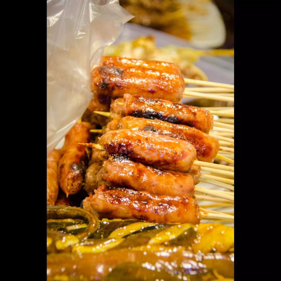 Bangkok Thai Cuisine: Isan Sausages on a Stick