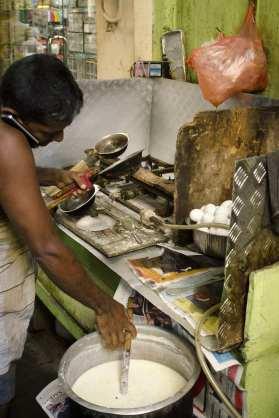 Voyages au Sri Lanka: Un déjeuner de l'ouvrier à Colombo