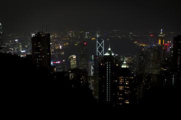 Hong Kong Suckling Pig: Hong Kong at Night
