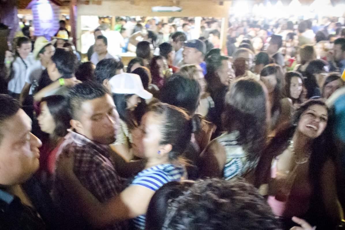 Oaxaca Mezcal Festival: Shoulder-to-shoulder dancing and laughing.
