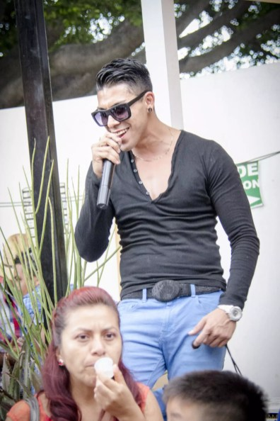 Oaxaca Mezcal Festival: Radio host working hard