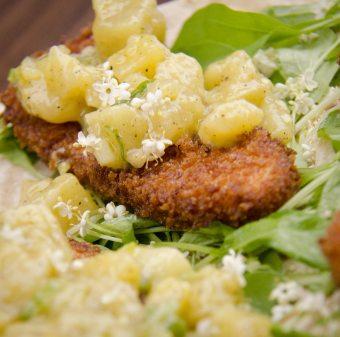 Tacos de poisson pané et frit