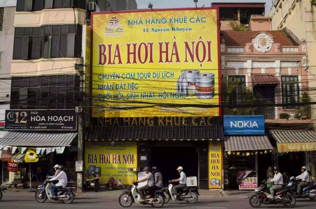 Advertising for Bia Hoi