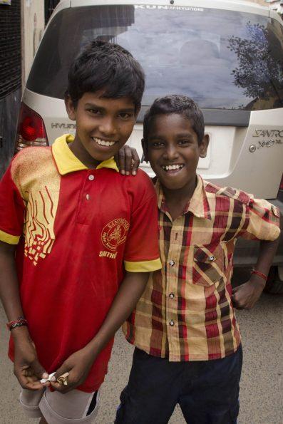 Visite de Bangalore - Des enfants s'amusent