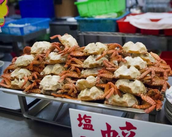 Cuisine de rue à Taïwan: Crabes farcis
