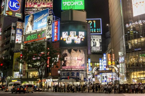 – L'intersection la plus occupée au monde, en face de la station Shibuya à Tokyo