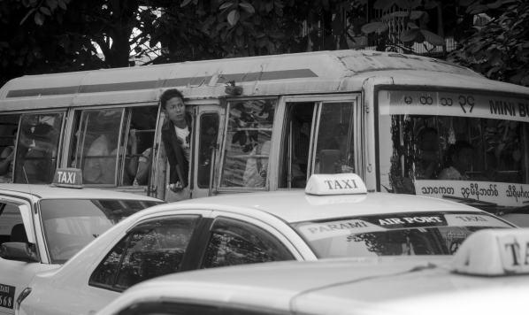 Les autobus de Yangon